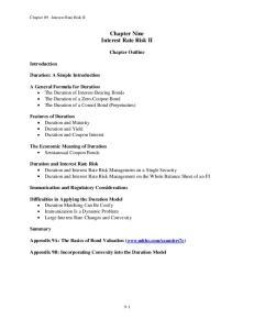 Chapter Nine Interest Rate Risk II