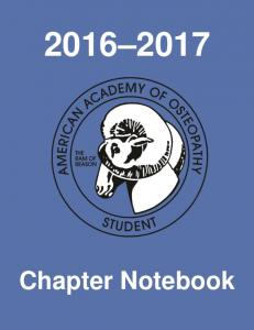 Chapter Notebook. SAAO Chapter Notebook Page 1
