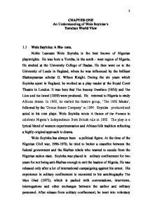 CHAPTER ONE An Understanding of Wole Soyinka s Yoruban World View