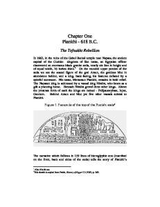 Chapter One Piankhi B.C