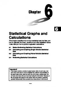 Chapter Statistical Graphs and Calculations