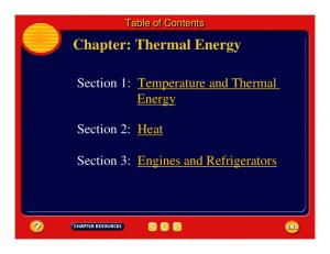 Chapter: Thermal Energy
