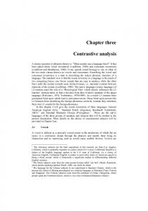 Chapter three. Contrastive analysis