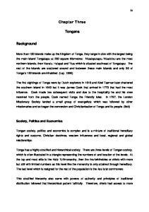 Chapter Three. Tongans