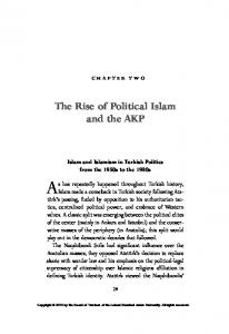 chapter two Islam and Islamism in Turkish Politics from the 1950s to the 1980s