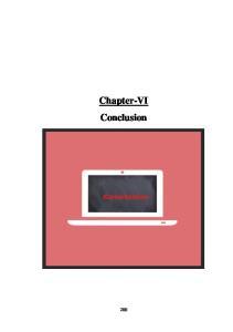 Chapter-VI Conclusion