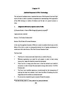 Chapter-VI. Judicial Response & DNA Technology