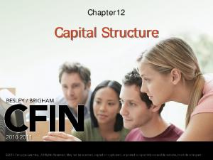 Chapter12. Capital Structure