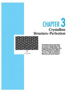 CHAPTER3. Crystalline Structure Perfection