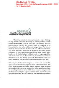 Chapter3 Livelihoods, household income and expenditure