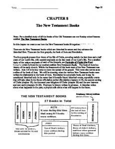 CHAPTERS. The New Testament Books