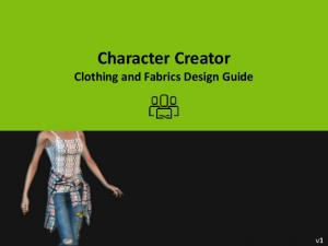 Character Creator Clothing and Fabrics Design Guide