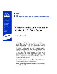 Characteristics and Production Costs of U.S. Corn Farms