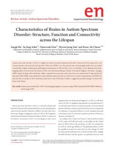 Characteristics of Brains in Autism Spectrum Disorder: Structure, Function and Connectivity across the Lifespan