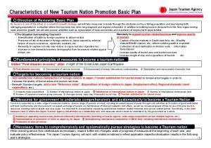Characteristics of New Tourism Nation Promotion Basic Plan