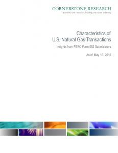 Characteristics of U.S. Natural Gas Transactions