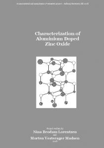 Characterization of Aluminium Doped Zinc Oxide