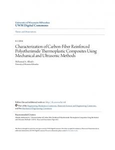 Characterization of Carbon-Fiber Reinforced Polyetherimide Thermoplastic Composites Using Mechanical and Ultrasonic Methods