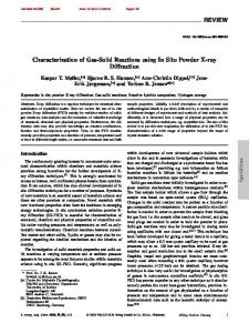 Characterization of Gas-Solid Reactions using In Situ Powder X-ray Diffraction