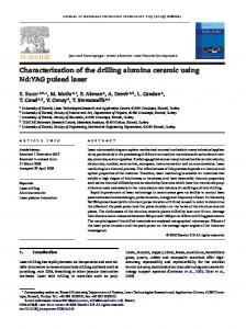 Characterization of the drilling alumina ceramic using Nd:YAG pulsed laser