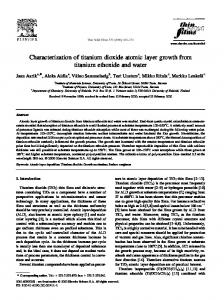 Characterization of titanium dioxide atomic layer growth from titanium ethoxide and water