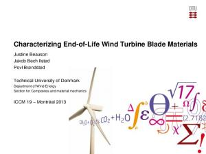 Characterizing End-of-Life Wind Turbine Blade Materials