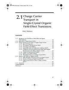 Charge Carrier Transport in Single-Crystal Organic Field-Effect Transistors
