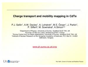 Charge transport and mobility mapping in CdTe