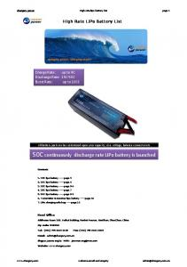 chargery power High rate lipo battery list page 1 High Rate LiPo Battery List