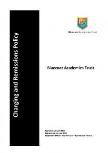 Charging and Remissions Policy. Bluecoat Academies Trust
