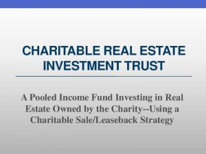 CHARITABLE REAL ESTATE INVESTMENT TRUST