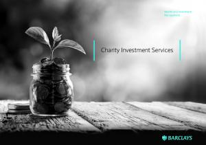 Charity Investment Services. Wealth and Investment Management