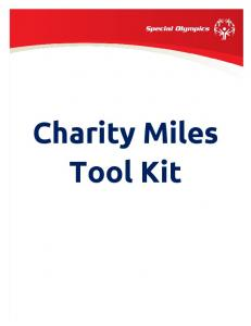 Charity Miles Tool Kit
