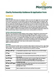Charity Partnership Guidance & Application Form