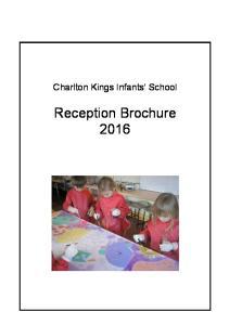Charlton Kings Infants School. Reception Brochure 2016