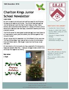 Charlton Kings Junior School Newsletter