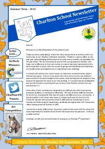Charlton School Newsletter