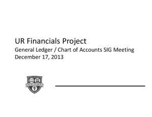 Chart of Accounts SIG Meeting December 17, 2013