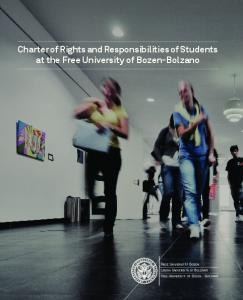 Charter of Rights and Responsibilities of Students at the Free University of Bozen-Bolzano