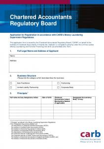 Chartered Accountants Regulatory Board
