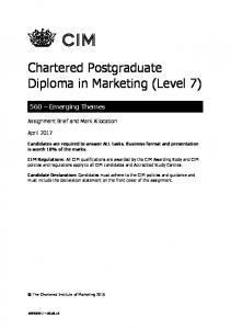Chartered Postgraduate Diploma in Marketing (Level 7)