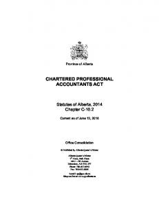 CHARTERED PROFESSIONAL ACCOUNTANTS ACT
