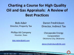 Charting a Course for High Quality Oil and Gas Appraisals: A Review of Best Practices