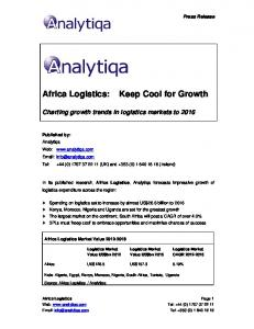 Charting growth trends in logistics markets to 2016