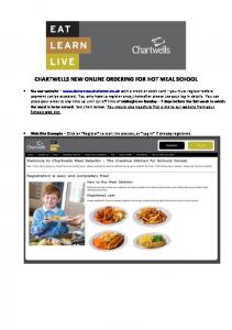 CHARTWELLS NEW ONLINE ORDERING FOR HOT MEAL SCHOOL