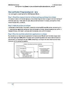 Chat and Socket Programming Lab - Java