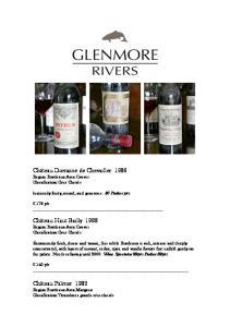 Château Domaine de Chevailler 1986 Region:Bordeaux Area:Graves Classification:Crus Classés