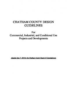 CHATHAM COUNTY DESIGN GUIDELINES