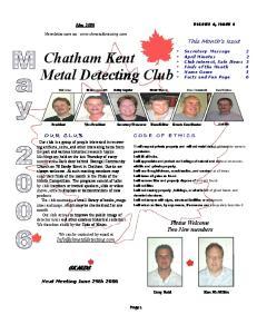 Chatham Kent Metal Detecting Club