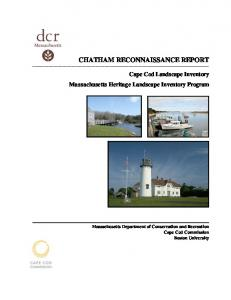 CHATHAM RECONNAISSANCE REPORT